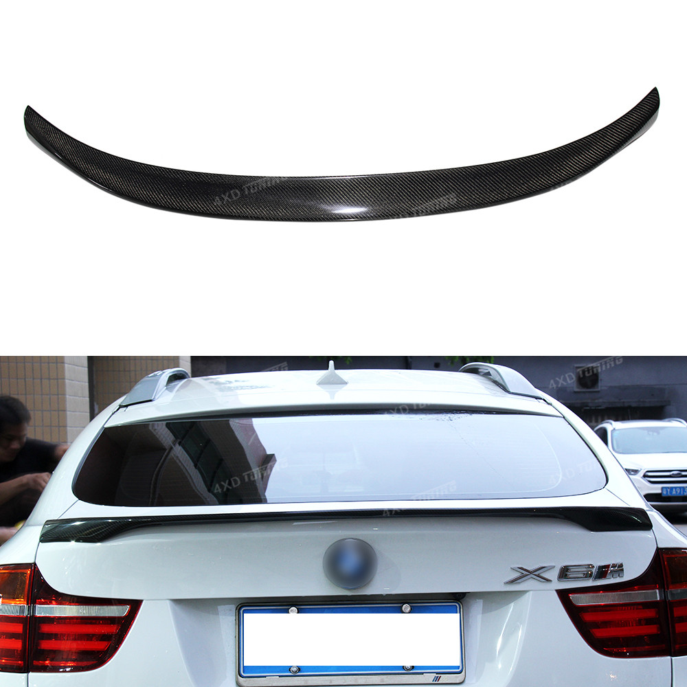 For BMW X Series X6 E71 Carbon Fiber Rear spoiler Rear Bumper Trunk Wing for M Performance Style 2008 2009 2010 2011 2012 2013 for bmw x6 f16 spoiler carbon fiber material 2014 2015 2016 up x6 carbon spoiler m performance style carbon wings car styling