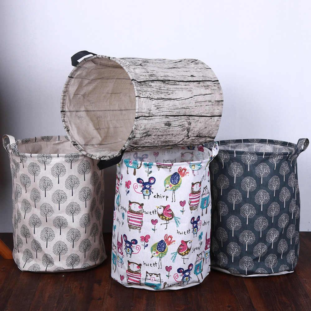 Multicolor lona ropa cesta de almacenamiento barril creativo plegable niños juguetes organizador almacenamiento barril suministros para el hogar