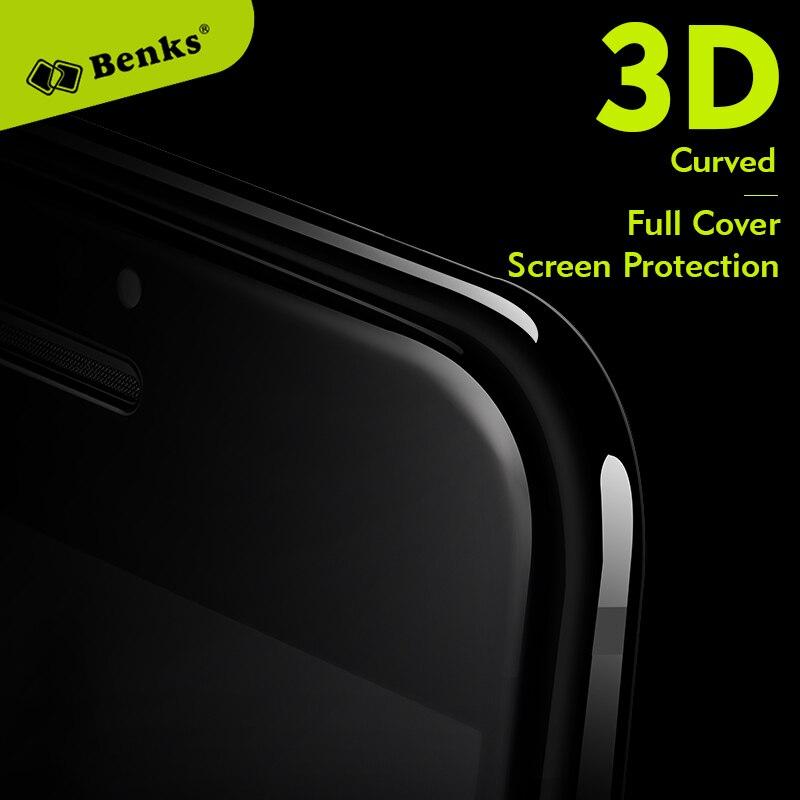 imágenes para Benks 7/7 plus 3d curvada protección de pantalla completa 0.4mm 9 h agc vidrio templado película del protector del teléfono móvil para iphone 7 plus negro