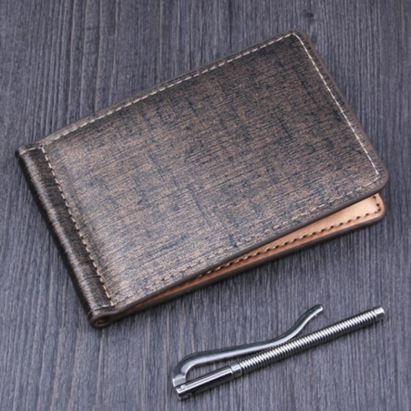 2018 New Men Brand Business Leather ID Credit Card Holder Wallet Name Cards Wallet Magic Money Clips #C