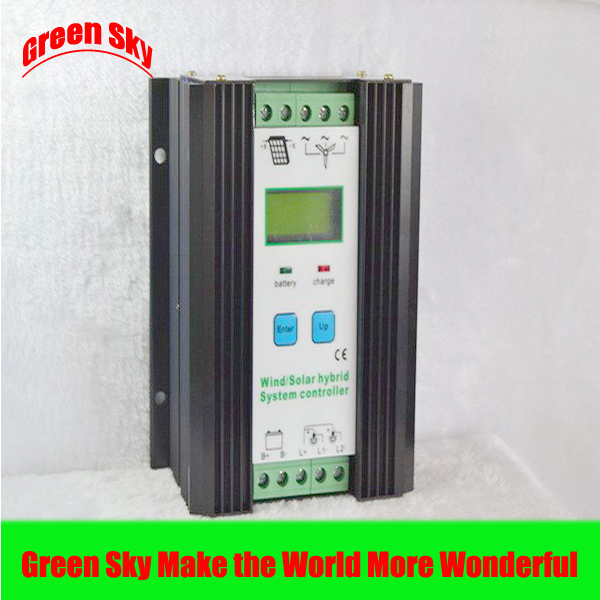 CE&RoHS Certificate Intelligent LCD Display 24V 600W mppt charge wind generator controller wind generator mppt charge controller