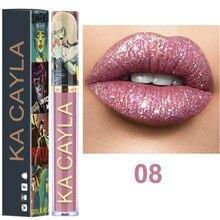 1PC Diamond Waterproof Lip Gloss Makeup Metallic Lipgloss Glitter Long Lasting Red Lips Make up Cosmetics