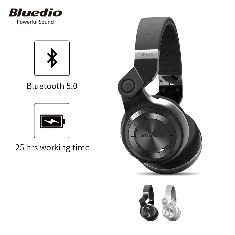Bluedio T2 Bluetooth 5.0 sans fil pliable casque avec Mircorphone 3d son Original casque pour téléphone portable Xiaomi écouteur