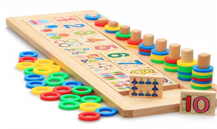 MamimamiHome Baby Montessori Building Blocks Teaching Aids Cognition Early Education Toys For Children Baby Gift Math Toys
