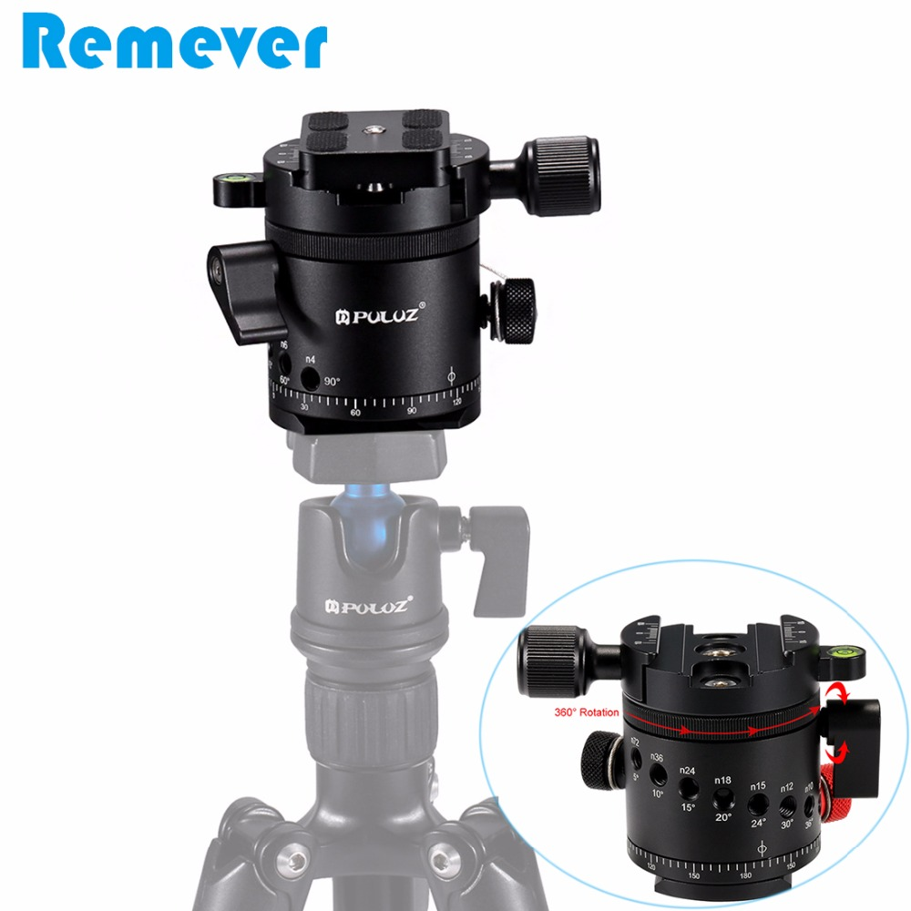 New Arrival Aluminum Alloy Panoramic Tripod Head for DSLR Cameras 360 Degree Rotation Quick Release Plate With 1/4 Inch Screw xiletu j2 360 panoramic panorama ballhead clamp aluminum alloy tripod head with quick release plate damping tuning system