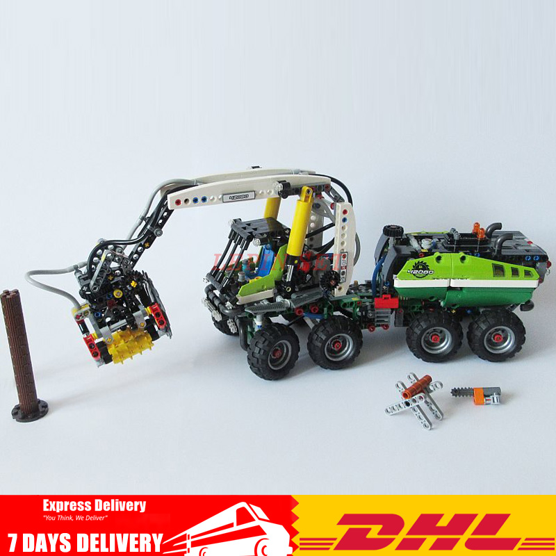 1123 PCS Moc 42080 Lepin 20083 Technic Harvester Forest Machine Power Functions Motor Model Toys Building Blocks Bricks Toy