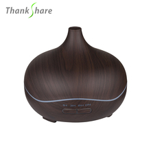 THANKSHARE 300ml Aroma Essential Oil Diffuser Ultrasonic Air Humidifier Lamp Aromatherapy Electric Diffuser Mist Maker for home