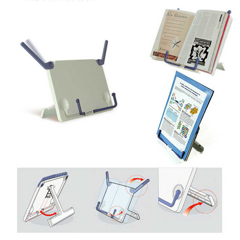 Korea Design Portable Stand Reading Holder Fashion Book Bookend Folding Tablet Tablature