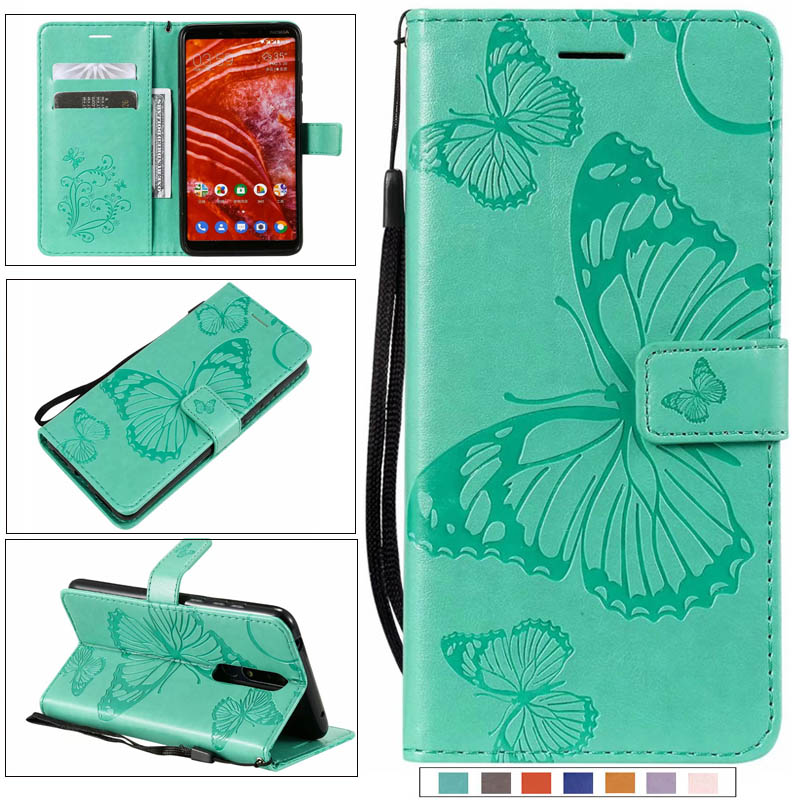 New 3D butterfly Flip stand phone <font><b>case</b></font> cover For <font><b>Nokia</b></font> 6 2018 5 3 2.1 3.1 <font><b>5.1</b></font> 9 pure view 1 <font><b>plus</b></font> 3.2 4.2 7.1 <font><b>plus</b></font> X7 8.1plus X71 image