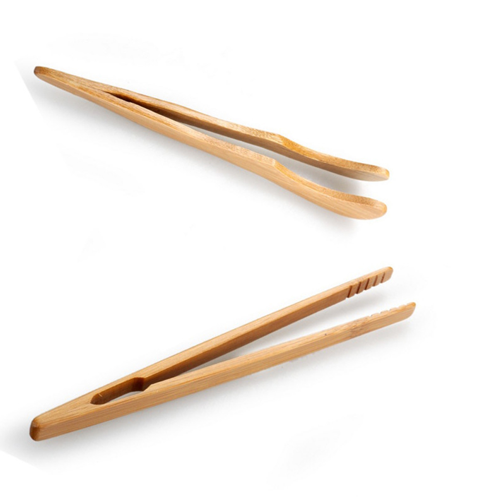 Tweezer Utensil Tea-Clip Toast Tongs Sugar Bacon Wooden Bamboo Food Salad Kongfu