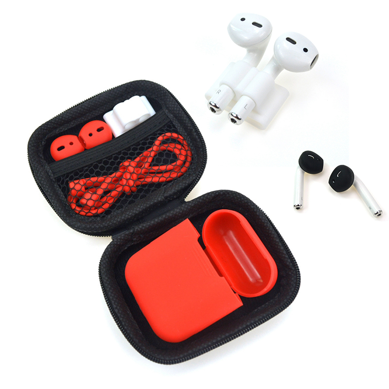 Useful <font><b>5</b></font> <font><b>in</b></font> <font><b>1</b></font> Storage Box Earphone <font><b>Case</b></font> For <font><b>AirPods</b></font> Earbuds Headphone Protector Headset Cover For <font><b>AirPods</b></font> <font><b>Case</b></font> image