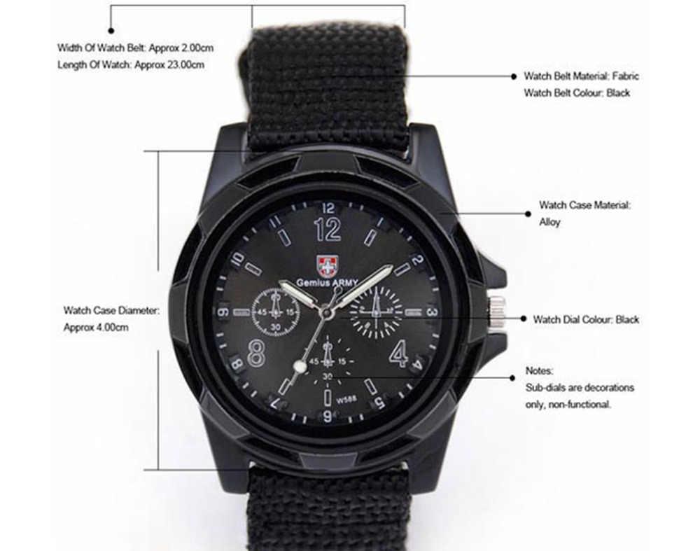 XINIU super qualité relogio masculino montre à quartz montre hommes armée course Force militaire Sport hommes tissu bande montre noir # A8