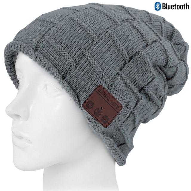 c9c3178f20b Wireless Bluetooth Beanie Hat Knit Warm Winter Cap Built- in Mic Stereo  Speakers Headset Headphones Hats Tech Christmas Gift