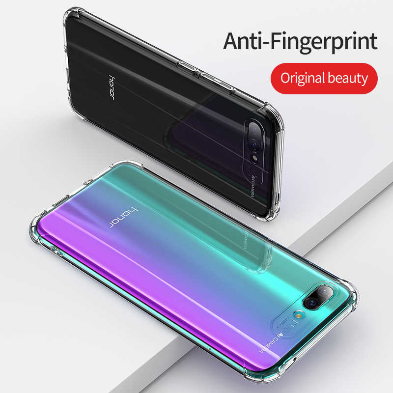 Msvii Soft For Huawei Honor 8X Case Transparent Back Cover Case For Honor View 20 View 10 Honor 10 Airbag Case TPU Shockproof