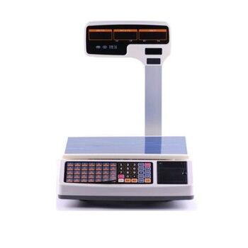 Timbangan pencetakan penerimaan termal dukungan multi-bahasa harga komputasi skala digital skala kasir untuk Sistem POS 1