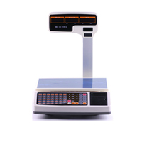 weighing scale thermal receipt printing support multi language digital cash register scale for POS System price computing scale