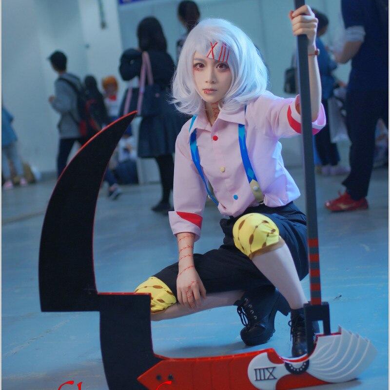 Tokyo Ghoul Cartoon Anime Cosplay JUZO SUZUYA REI Cos Man Woman Halloween Cosplay Costume Set Top+Pants+Strap+Knee Pads+Slippers
