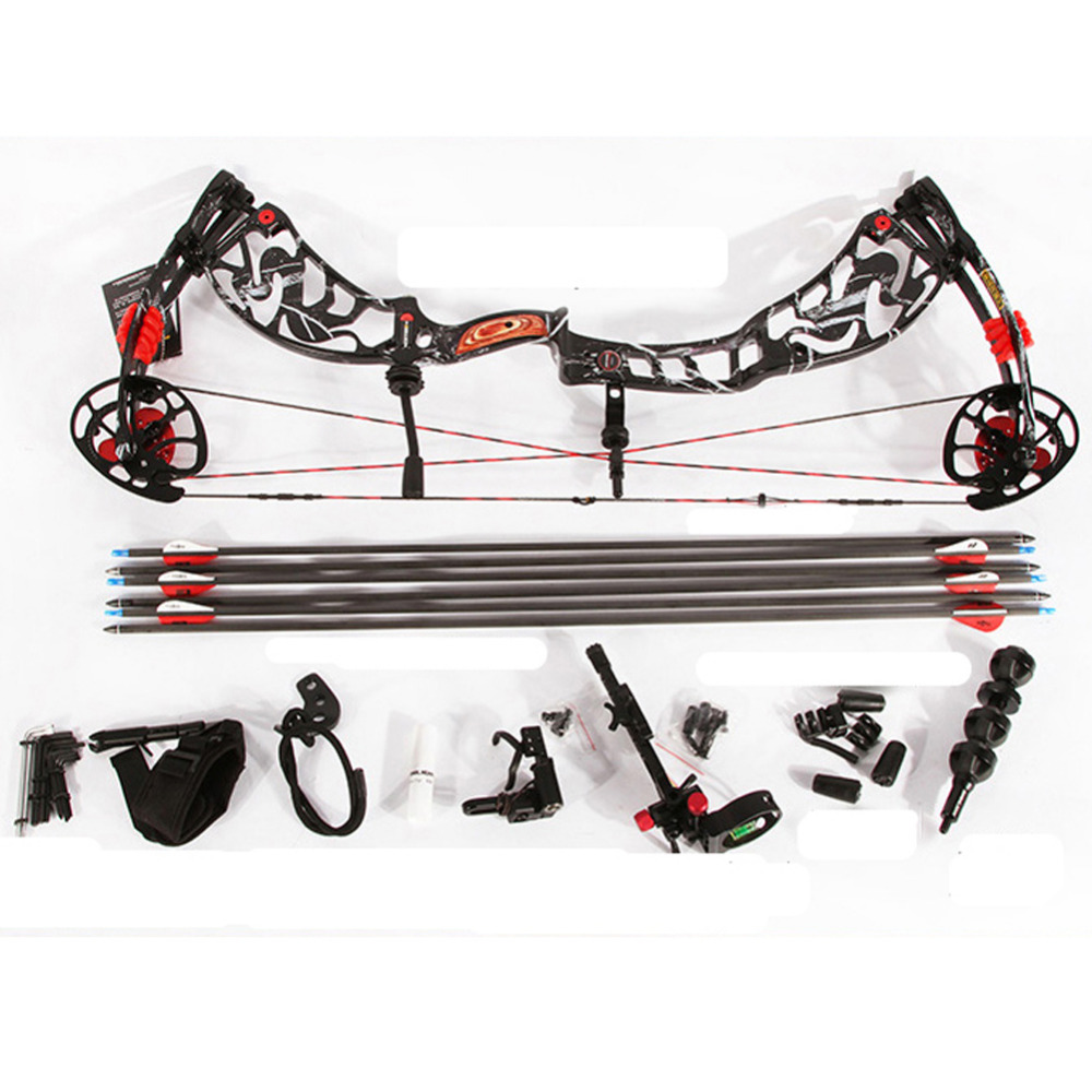 Archery Supplies  Shooting Compound Bow and Arrow Set for Competitive Game Hunting Aluminium Alloy Riser CNC Alloy SLD-LZCQ fish slingshot with the fishing wheel and laser flashlight stainless steel aluminium alloy archery shooting hunting equipment