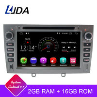 LJDA 2 Din Android 9.1 Car Radio For PEUGEOT 408 308 WIFI Car Multimedia Player Stereo GPS Navigation DVD IPS Auto Audio RDS SD