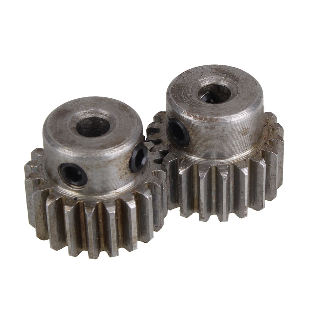 2pcs Module 1 20 Teeth 4/5/6/6.35/7/8/10/12/12.7mm Hole Diameter Motor Metal Steel Gear Wheel