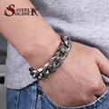 Steel soldier cross flower stainless steel men heavey cool bracelet popular for American and Europe jewelry for men