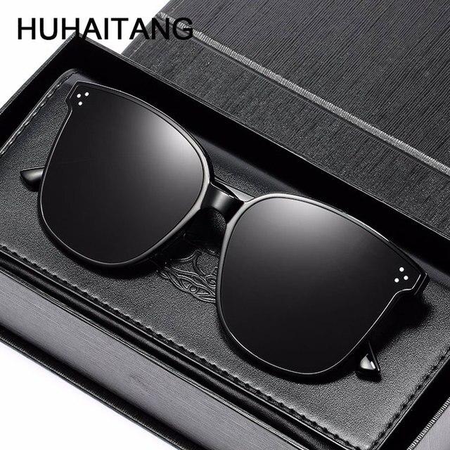 HUHAITANG Luxury Square Oversized Sunglasses Women Fashion High Quality Sun Glasses Brand Designer 2019 Vintage Ladies Sunglass