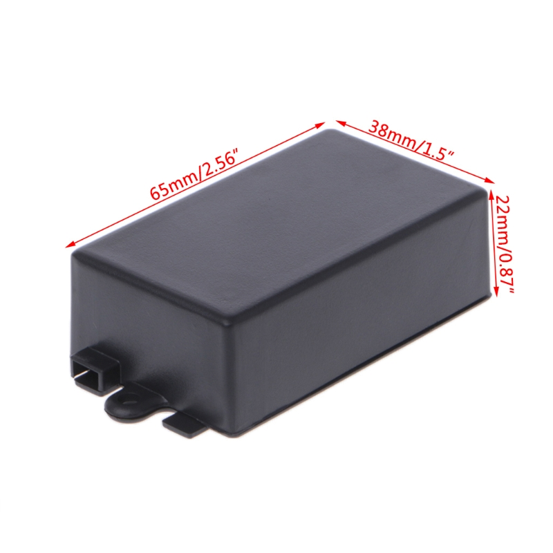 OOTDTY Waterproof Plastic Electronic Enclosure Project Box Black Instrument Case 65x38x22mm/82x52x35mm Connector 4pcs a lot diy plastic enclosure for electronic handheld led junction box abs housing control box waterproof case 238 134 50mm