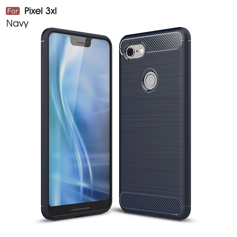 For Google Pixel 3 Case Luxury Soft Silicone Cases Carbon Fiber Phone Back Cover For Google Pixel 3XL 3 XL Capa