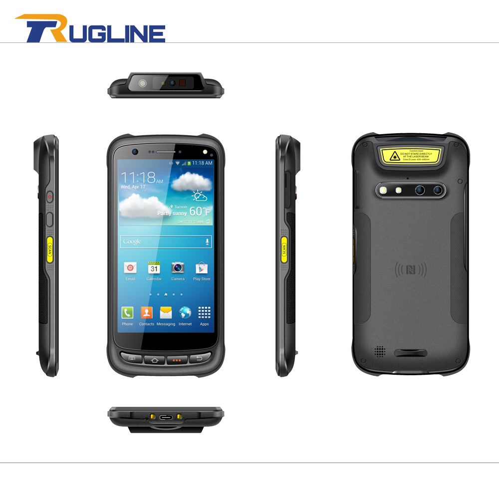 RUGLINE 1D 2D Laser Barcode Android 6.0 Scanner IP67 Waterproof Phone PDA Handheld Terminal Data Collector inventory Logistics