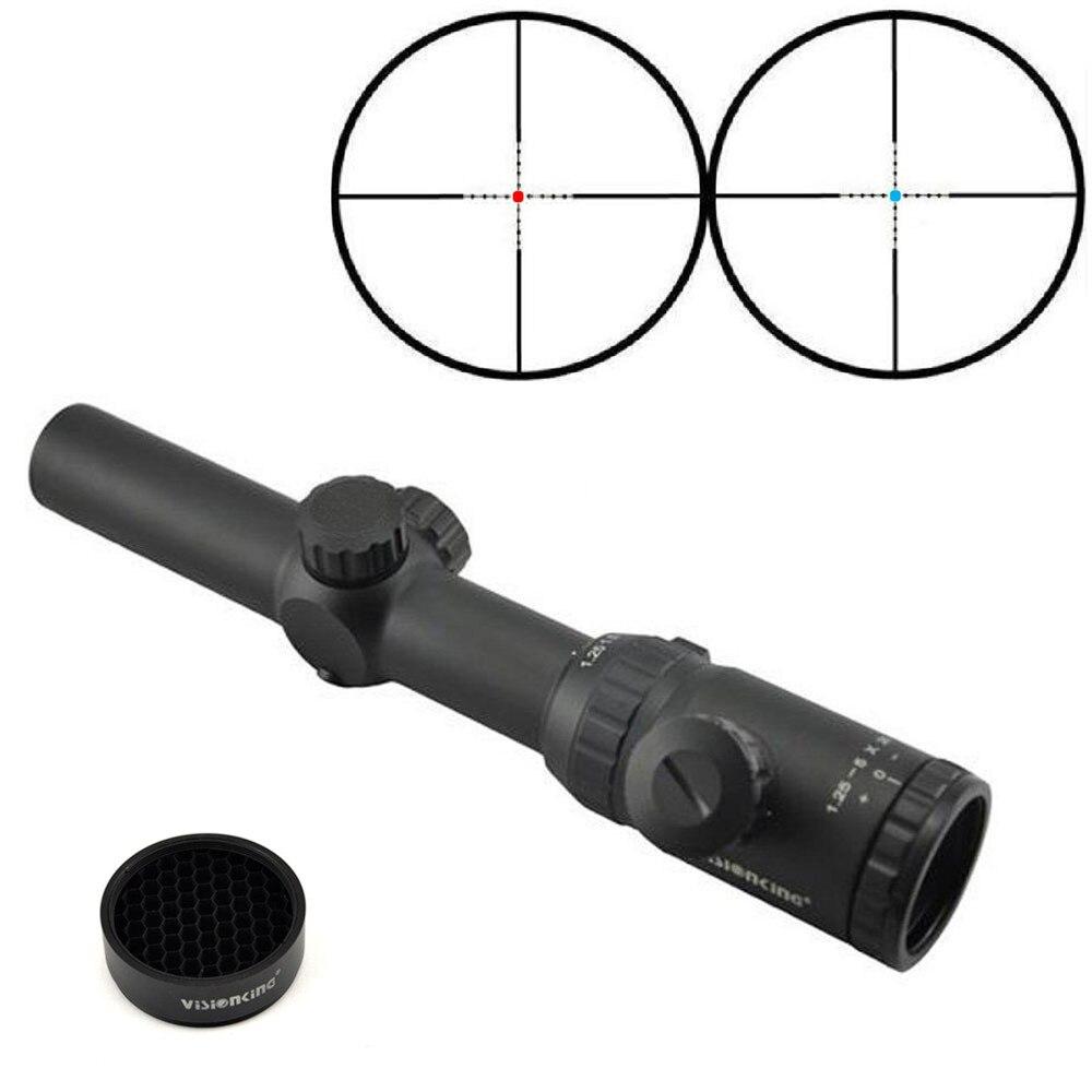 Visionking 1 25 5x26ML SFP Hunting Riflescope Red Blue Reticle Long Range Optical Sight Ar15 m4