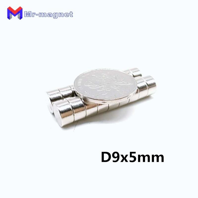 50PCS Super Strong Neodymium Round Disc Rare-Earth Fridge Magnet 9x5mm N35