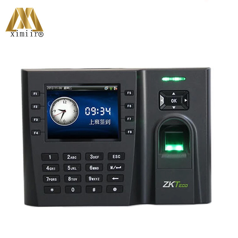 Biometric Fingerprint Time Attendance Iclock260 TCP/IP Time Attendance Machine High Fingerprint Users Time Clock
