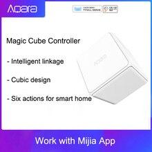 Aqaraマジックキューブコントローラzigbeeバージョン 6 アクションによって制御のためのスマートホームデバイスmijiaホームアプリで動作