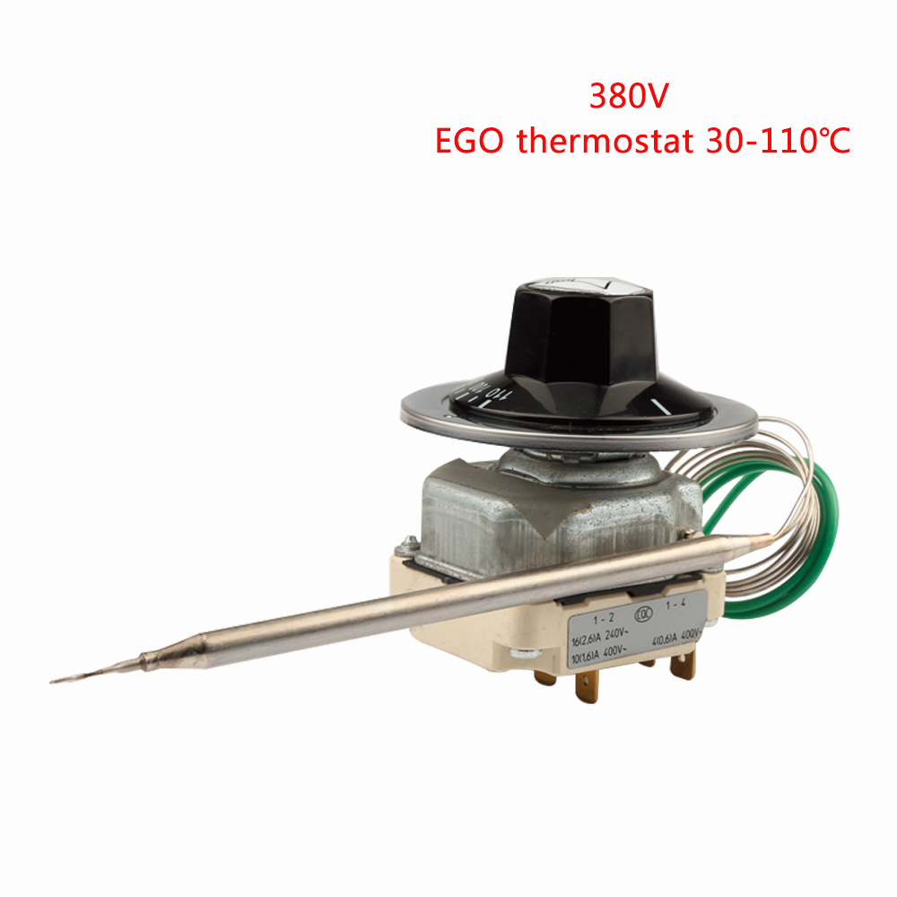 55 34022 170 EGO Temperaturregler 6 Pins Capillary Thermostat 30 110 Degrees Celsius 380 400V Over