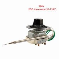 55.34022.170 EGO Temperaturregler 6 Pins Capillary Thermostat 30-110 Degrees Celsius 380-400V  Over Temperature Protective