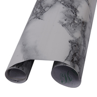 122cm*600cm White Black Veined Marble Gloss Vinyl Architectural Wrap for Home Office Furniture Wallpaper
