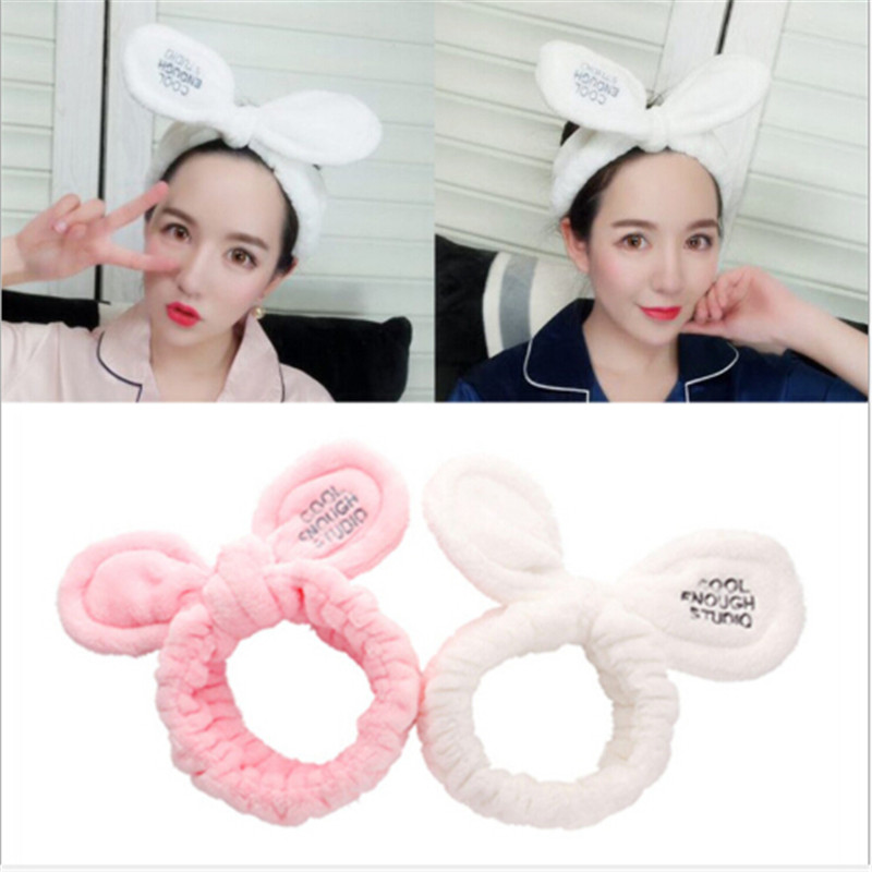 1pc Fashion Women Cute Plush Rabbit Ear Hairband Wash Headband Bear Headdress Girl Hair Accessories For Bathroom Bathing New Varieties Are Introduced One After Another