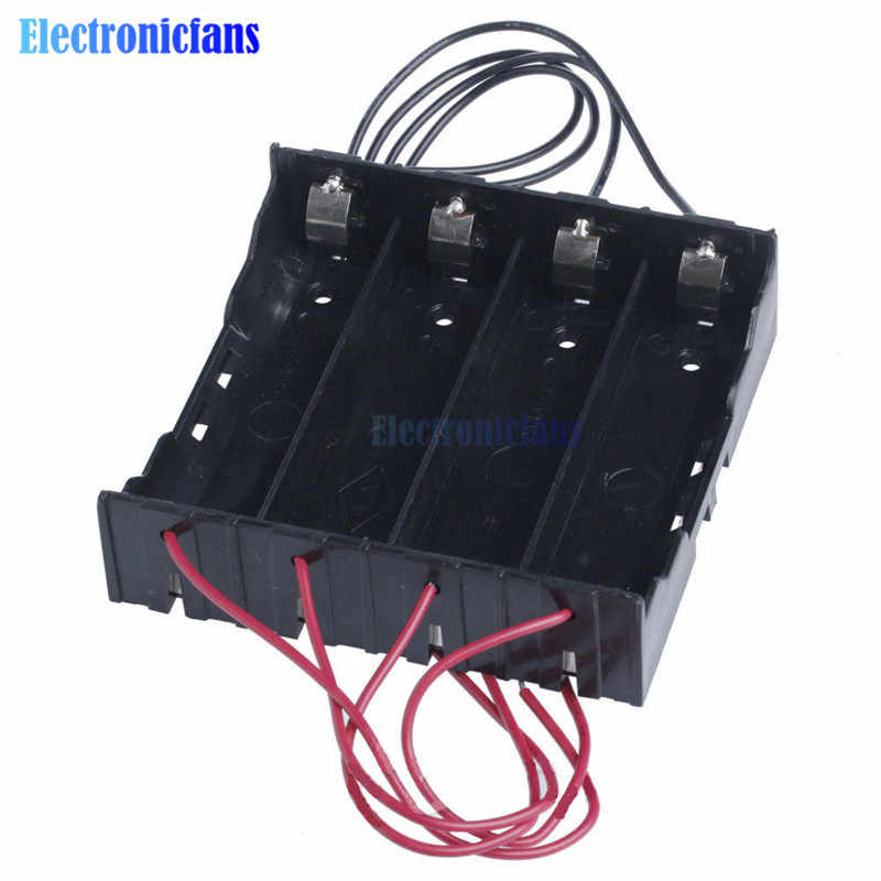 Plastic Battery Holder Storage Box Case For 4x 18650 Rechargeable Battery