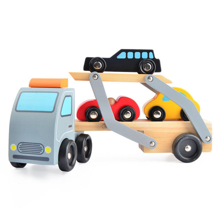 Toy Vehicle Truck Cars Loader Trailer Excavator Playsets Kids Wooden Classic Model Toys Car Carrier Truck kids detachable kingtoy detachable kids electric big rc truck detachable trailer remote control wireless truck toy