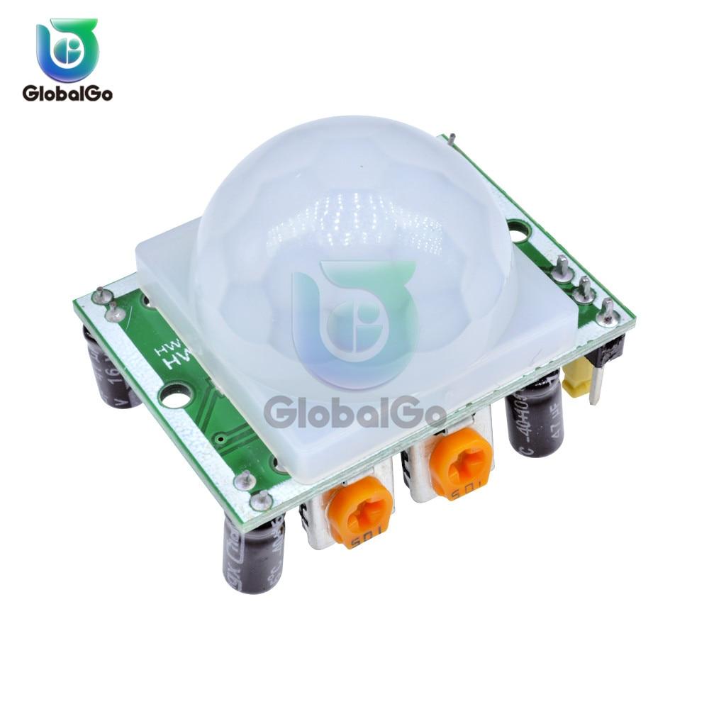 AM312 HC-SR501 HC-SR505 Регулировка ИК пироэлектрический инфракрасный Мини PIR модуль датчик движения Детектор модульный кронштейн для arduino
