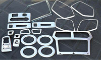 Acessórios interiores abs kit inteiro capa guarnições 19 peças para ford explorer 2011-2014