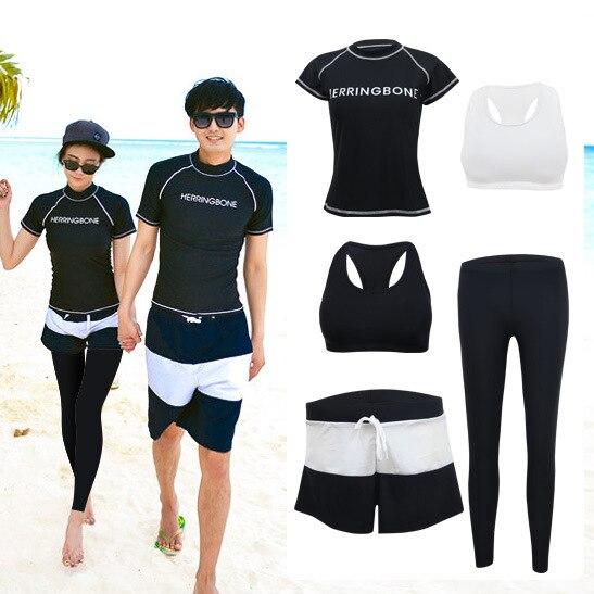 Rashguard Women Swimsuits Surfing Lycra Surf Diving Suit Woman Swimwear Swimming Rash Guard For New Swimsuit Lovers Three Piece цена