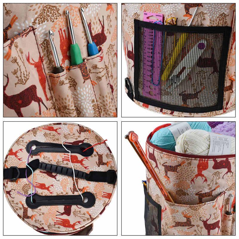 Vuoto Sacchetto di Immagazzinaggio di Lane e Filati Borsa Crochet Con Crochet Gancio di Lavoro A Maglia Ago Bag FAI DA TE Ago di Arte Del Mestiere di Cucito Strumenti Accessori Per delle donne