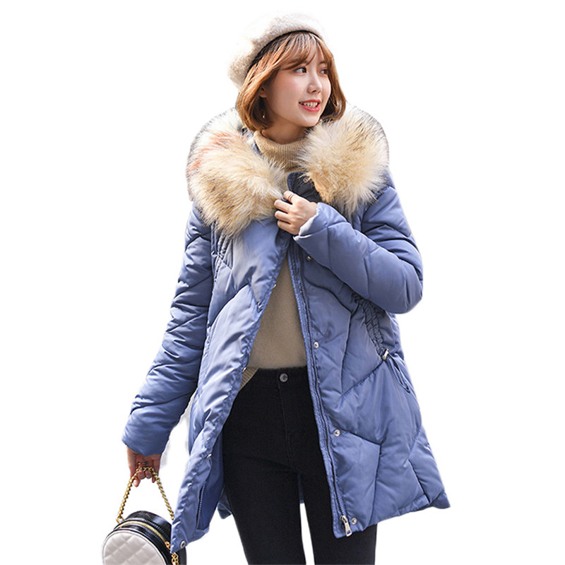 Coat Women Black White Yellow Plus Size Loose Feather Hooded Parkas 19 New Autumn Winter Korean Thick Warmth Down Jackets LD1081 in Parkas from Women 39 s Clothing