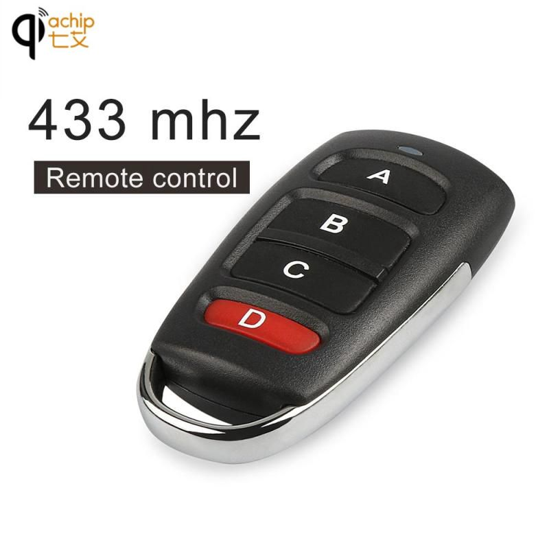 QIACHIP 4 buttons RF 433MHz Remote Control Duplicator Cloning Gate for Garage Door Opener Learning Copying Transmitter Key Fob