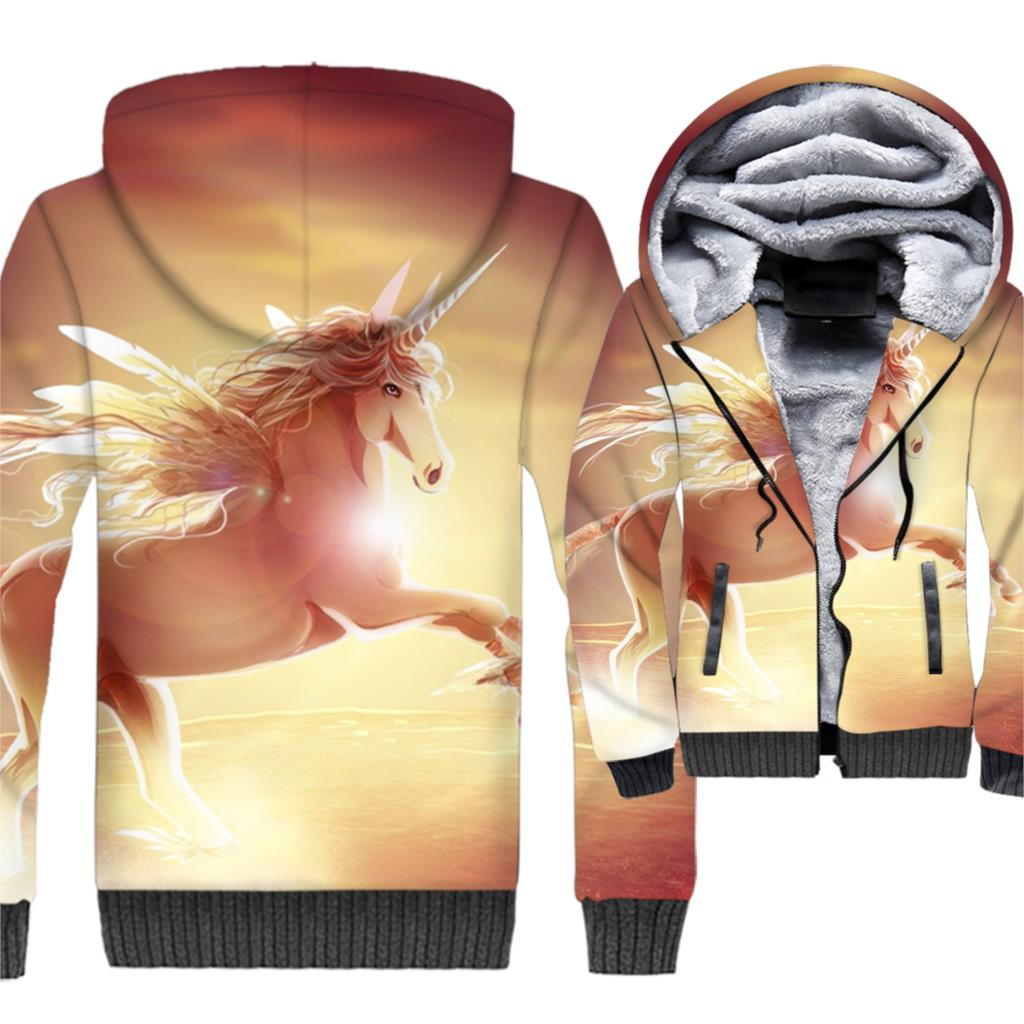 3D Print harajuku cartoon loose tracksuits men new thick swag Anime jackets coats male wool polyester jacket 2019 winter clothes in Hoodies amp Sweatshirts from Men 39 s Clothing