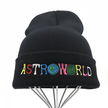 Travi$ Scott, вязаная шапка, новинка, ASTROWORLD, шапка с вышивкой, Astroworld, лыжная, теплая, зимняя, унисекс, трэвисс Скотт, Skullies Beanies