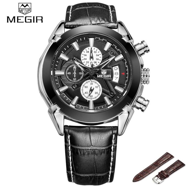 Hot Sale Megir Fahsion Sport Watch Men Quartz Watches Luxury Brand For Men Chronograph Waterproof Men Clock Relogio Masculino цена и фото