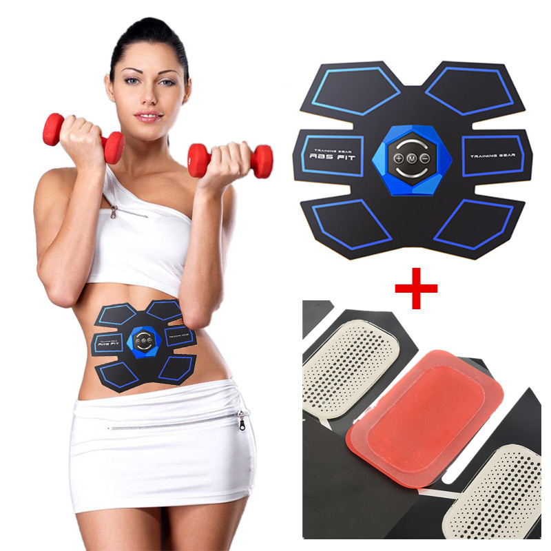 EMS Smart Fitness Gear Abdominal Exerciser Abdomen Fit Training Slimming Abdominal Muscles with Hydrogel Mat Replacement