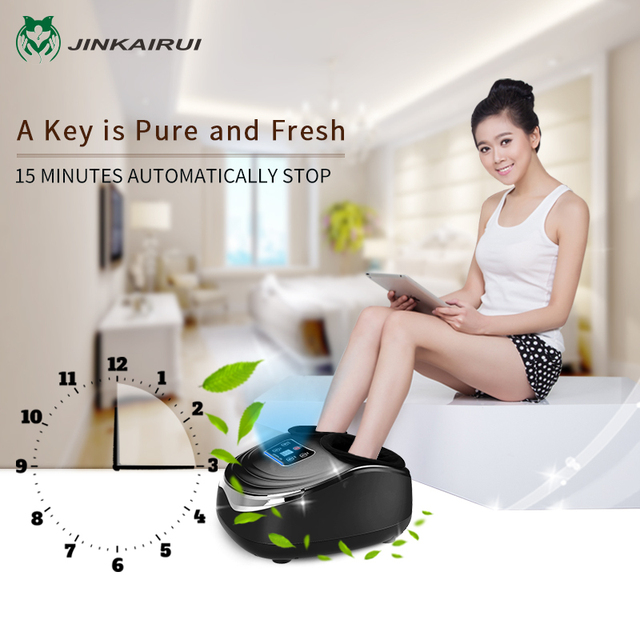EU Plug Electric Antistress Foot Massager Vibrator Massage Machine Infrared Heating Therapy Health Care Device 4